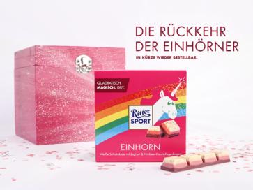 Einhorn Trend: Ritter Sport Einhorn Edition