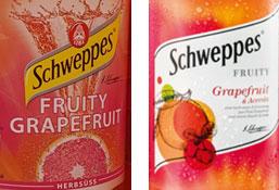 Verpackungsdesign Schweppes: alt und neu